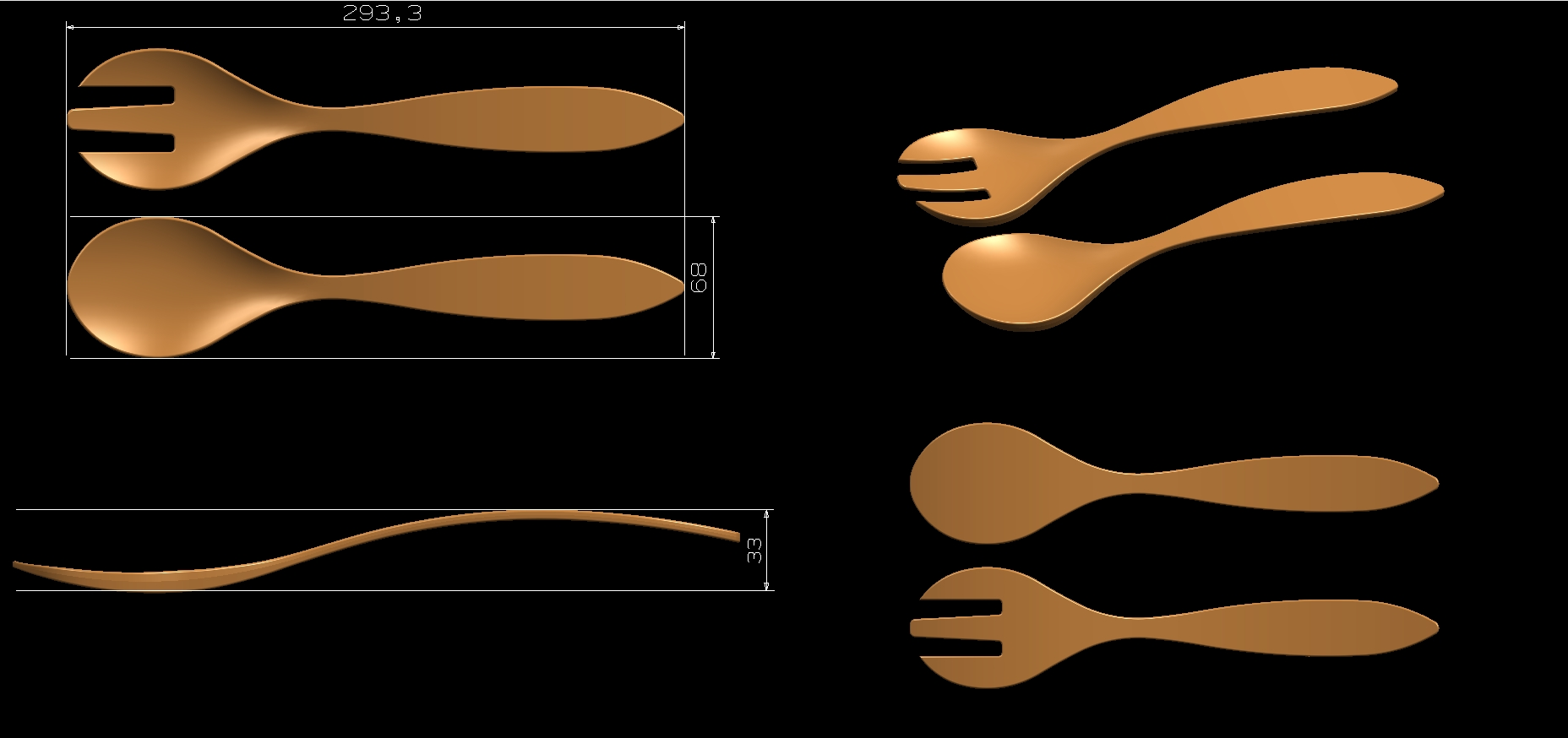 Melamine Spoon Mold