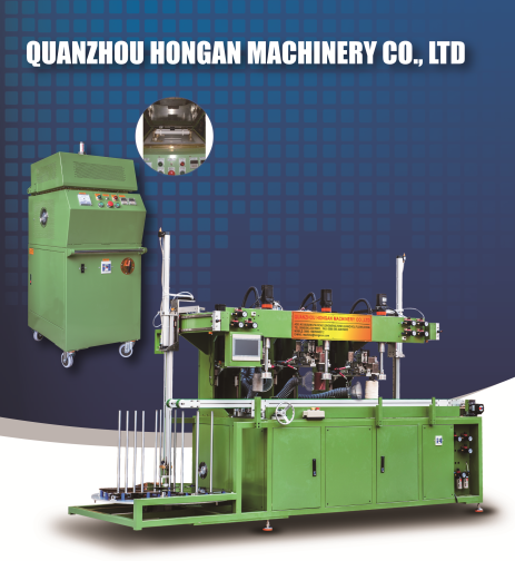 Automatic buffing machine for melamine dinner ware