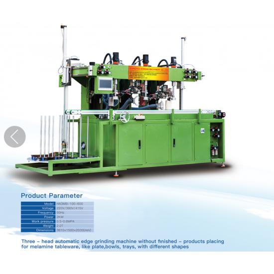Auto Melamine Crockery Polishing Machine from China-melaminemould com