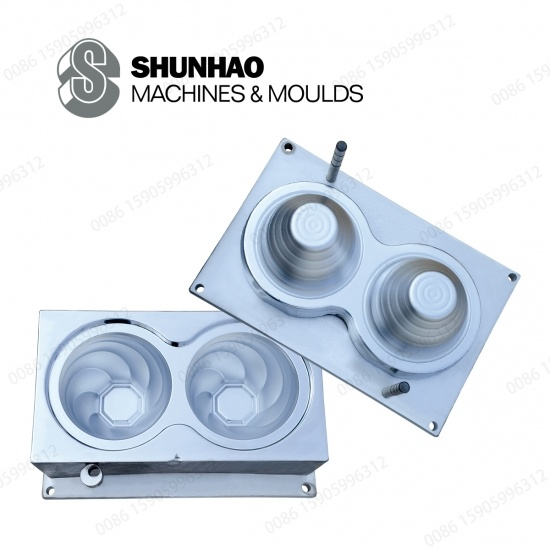 2Cavity Melamine Bowl Molds With Matte Finish And Hard Chrome