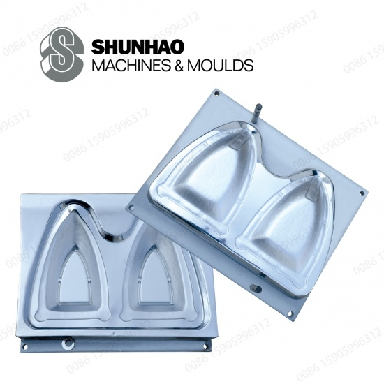 2Cavity Matte Finish Melamine Dinnerware Mold With Hard Chrome And 718H Steel
